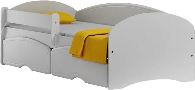 MAXMAX Detská posteľ so zásuvkami BLANC 160x80 cm 160x80 pre dievča pre chlapca pre všetkých ÁNO