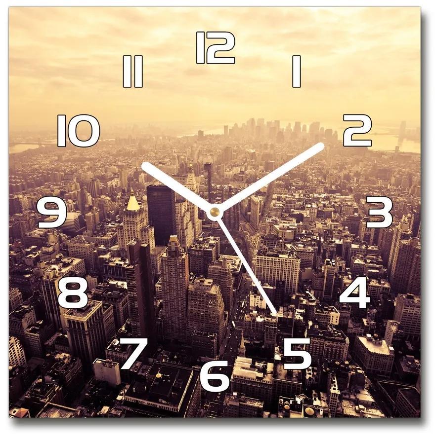 Sklenené hodiny štvorec Manhattnu Nev York pl_zsk_30x30_f_28407942