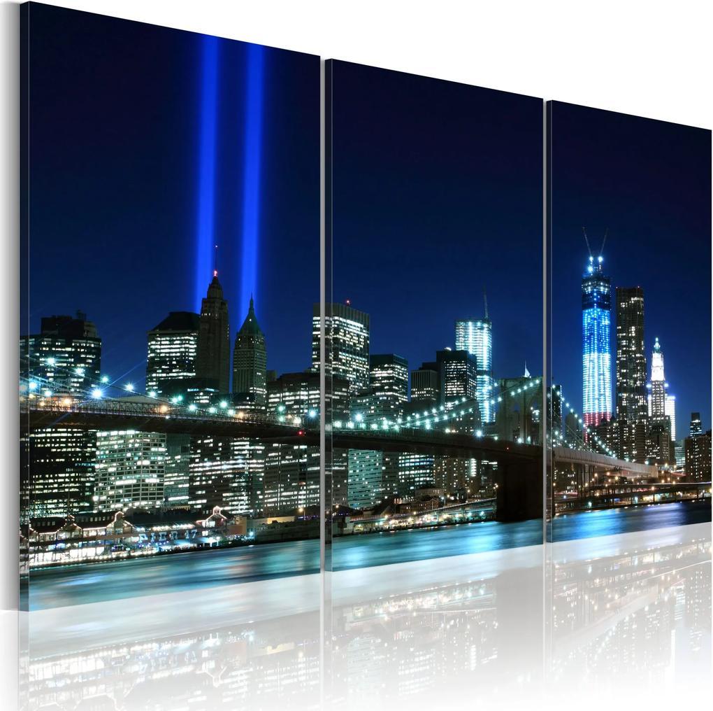 Obraz - Blue lights in New York 60x40