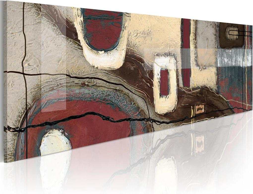 Obraz - Fancy rectangles 120x40