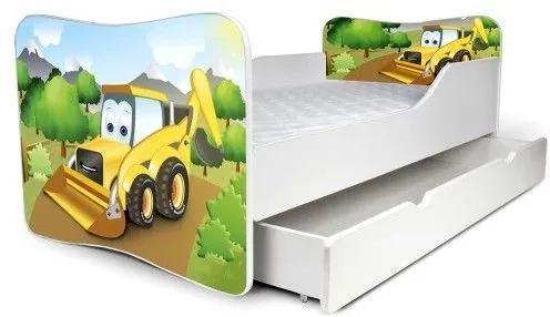 MAXMAX Detská posteľ so zásuvkou BAGR + matrac ZADARMO