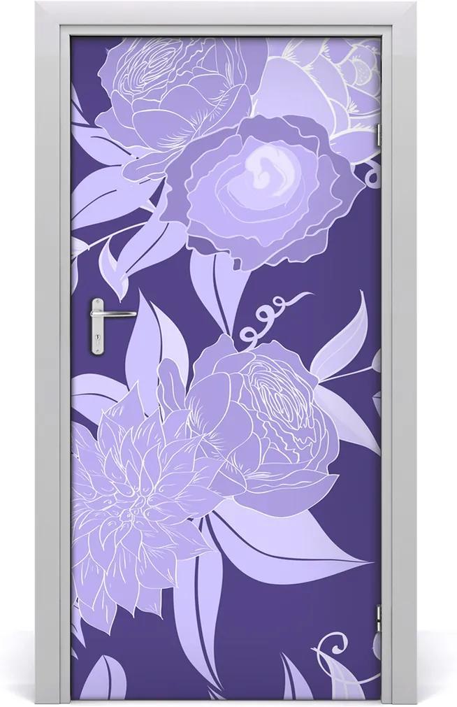 Samolepiace fototapety na dvere  kvetinový vzor