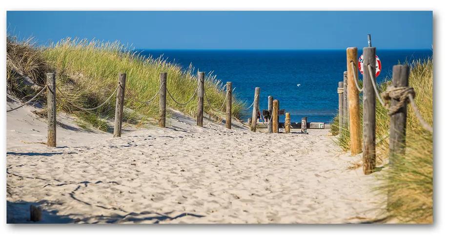 Moderný foto-obraz akryl na stenu Morské duny pl-oa-140x70-f-125318135