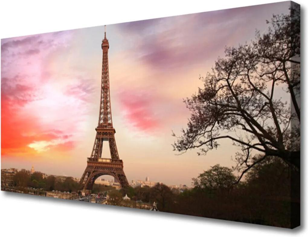 Obraz na plátně Eiffelova věž architektura