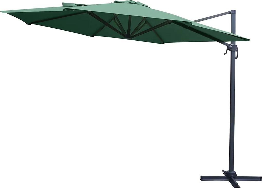 NABBI Casuar záhradný slnečník zelená