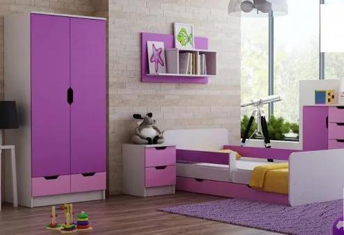 fe43afbfb286 MAXMAX Detská izba VIOLET - posteľ k zostave pre dievča