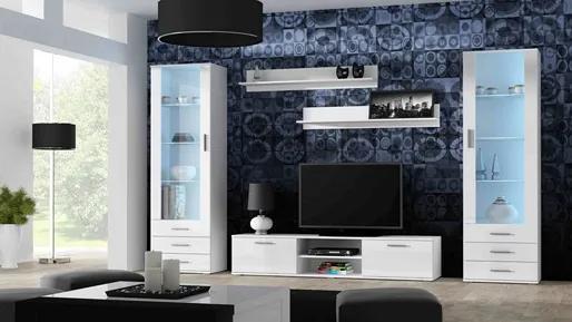 CAMA MEBLE Obývacia stena SOHO 4 Farba: čierna/biela