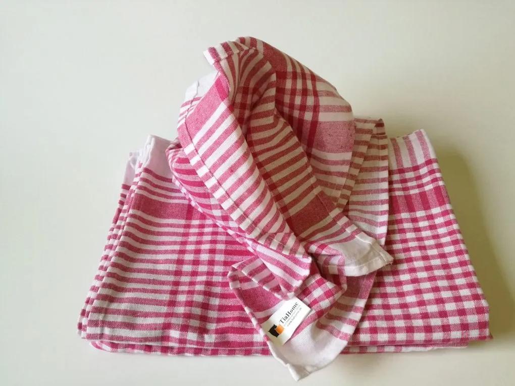 Kuchynské bavlnené utierky Červené 50x70cm TiaHome