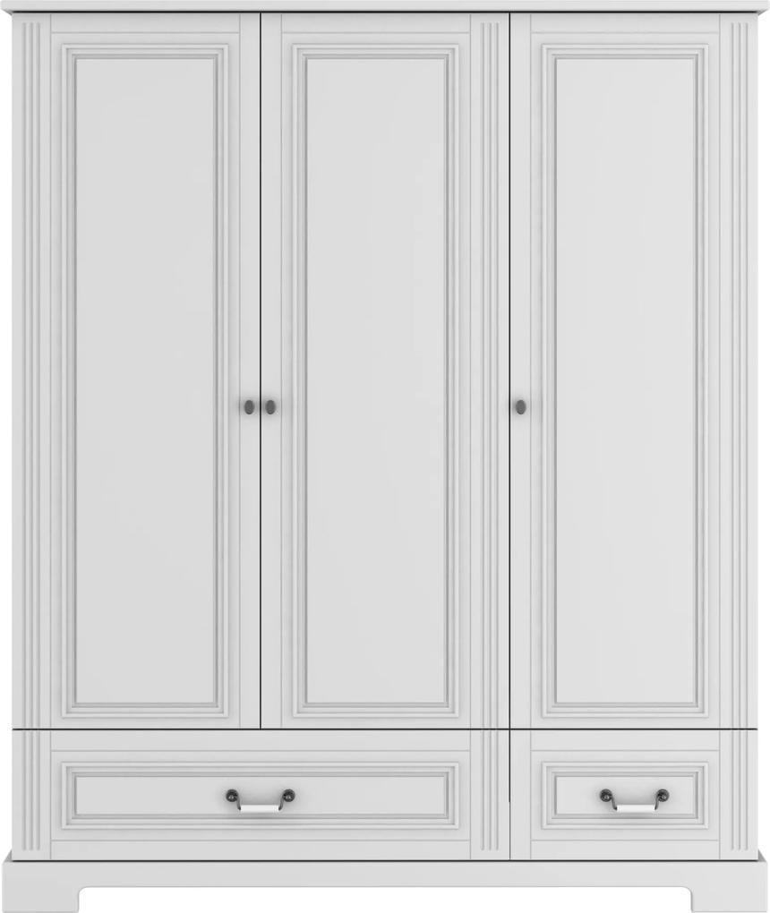 Skriňa Ines elegant white 3-dverová