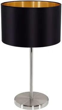 Eglo 31627 MASERLO textilná lampička 1X60W matný čierna/zlatá