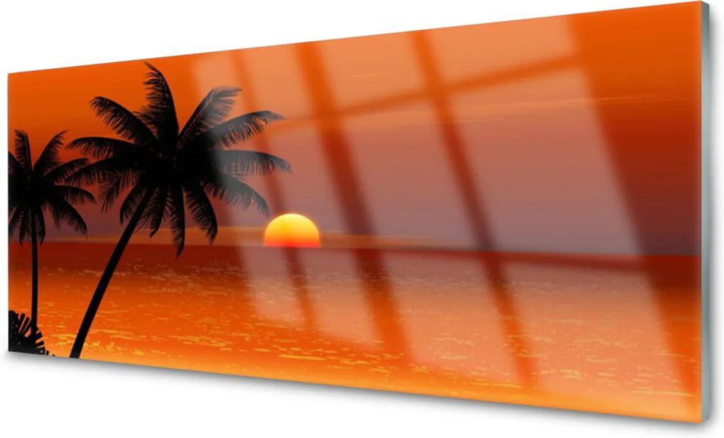 Obraz na akrylátovom skle Palma More Slnko Krajina