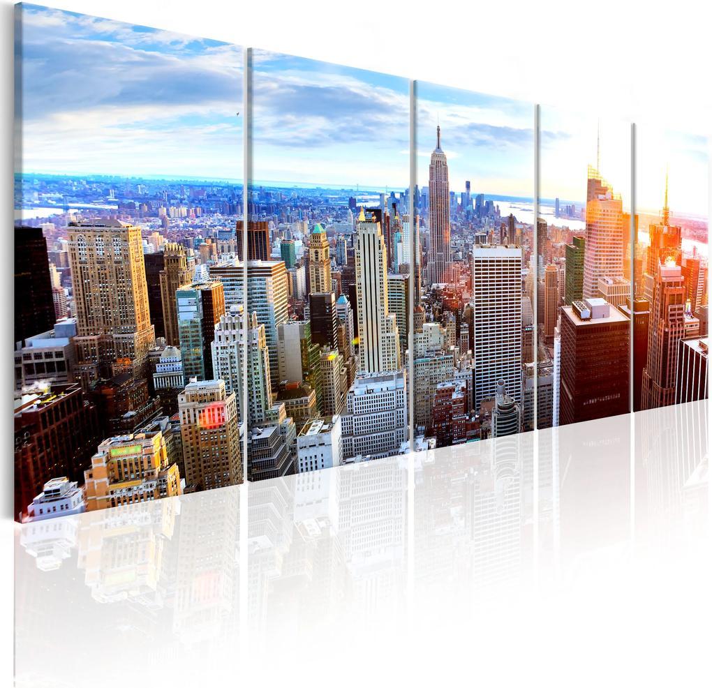 Obraz - New York: Sunrise 200x80