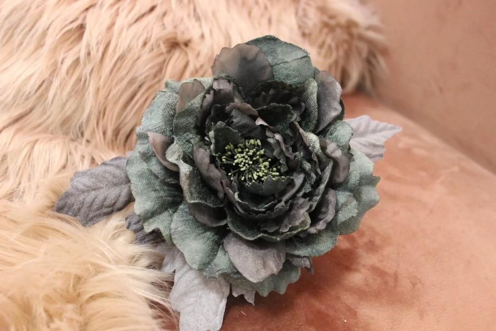 Tmavozelená sametová ruža 14cm