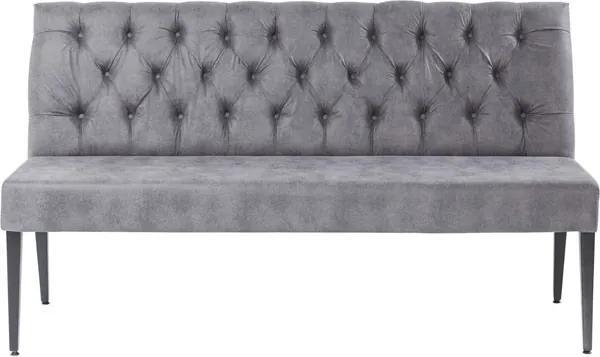 KARE DESIGN Polstrovaná lavice Econo Buttons Vintage Grey 162 cm