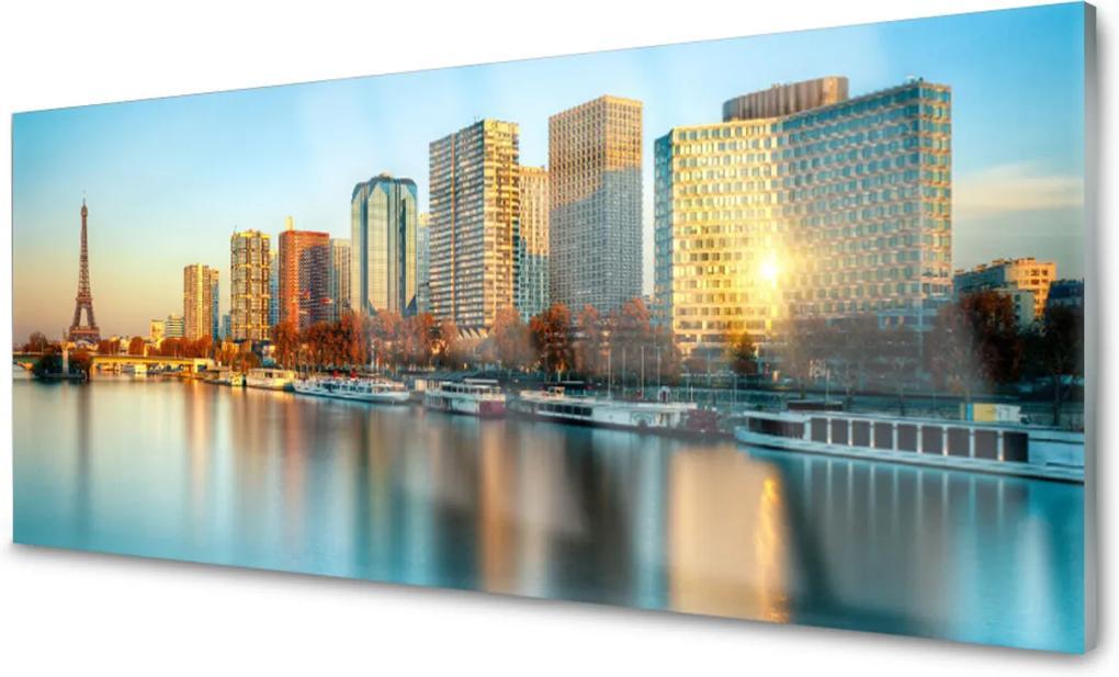 Plexisklo obraz Město moře domy paříž