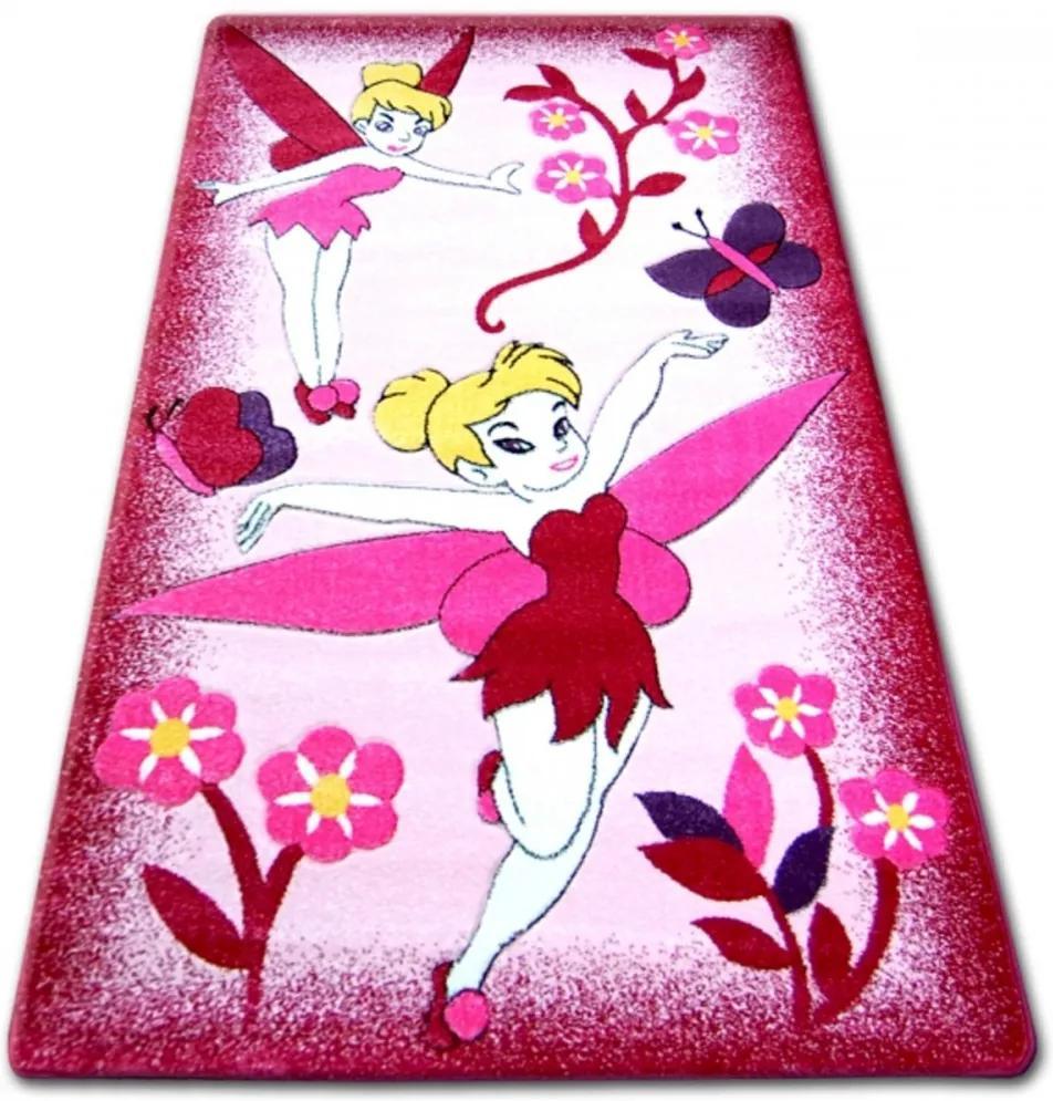 Detský kusový koberec Cililing ružový, Velikosti 240x330cm