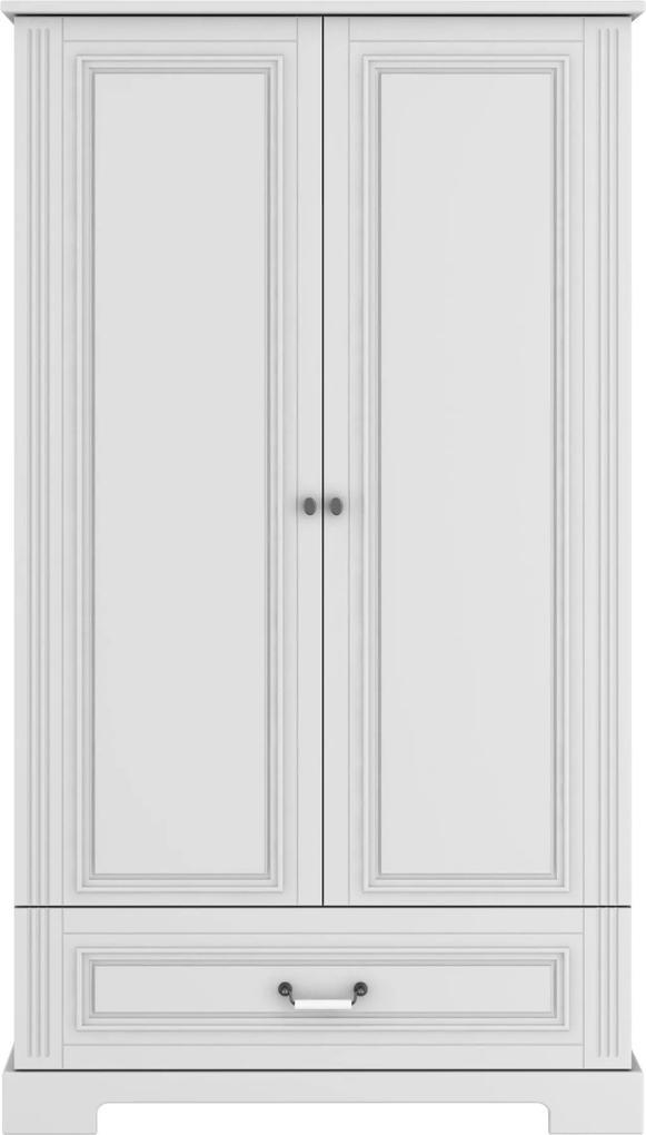 Skriňa Ines elegant white 2-dverová