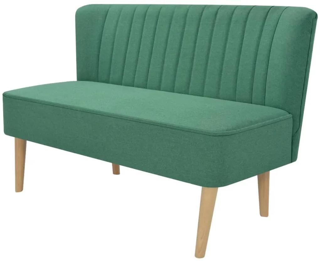 vidaXL Pohovka z textilu, 117x55,5x77 cm, zelená