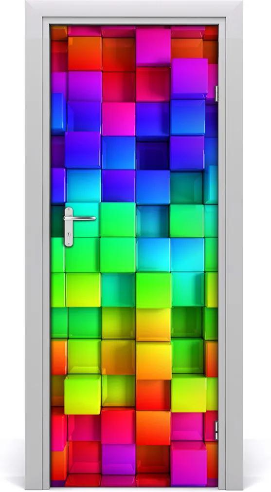 Samolepící fototapeta na dveře Barevné krabičky