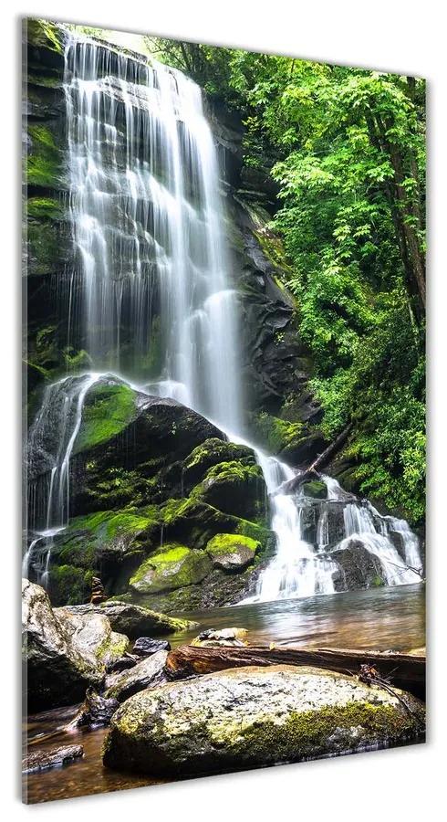 Foto obraz akrylový Vodopád v džungli pl-oa-70x140-f-65742204