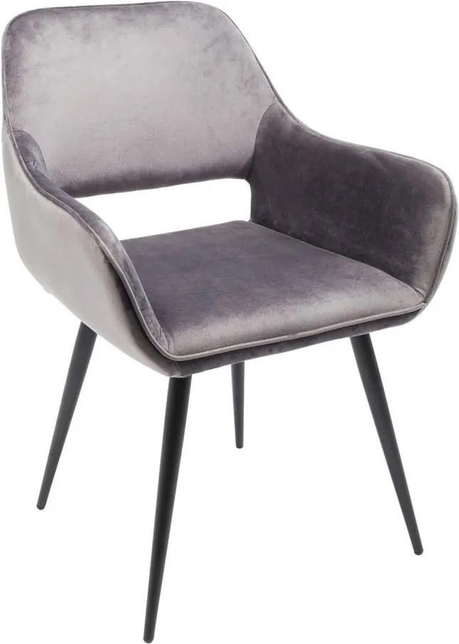 Sada 2 sivých stoličiek Kare Design Francisco