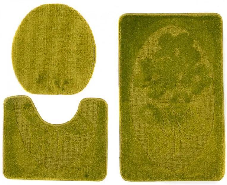 Kúpeľňové predložky 1125 zelené 3 ks, Velikosti 50x80cm
