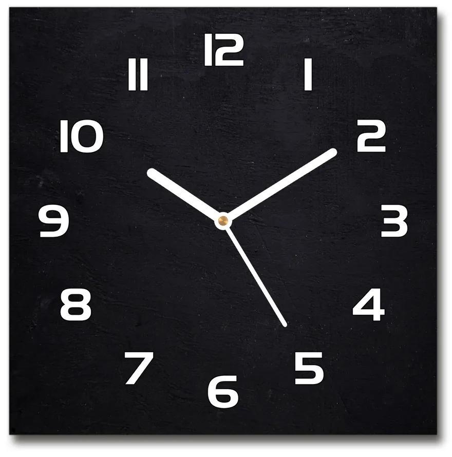 Sklenené hodiny štvorec Čierna tabuľa pl_zsk_30x30_f_70202968