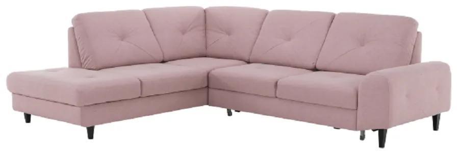 Rozkladacia sedacia súprava, látka Soro púdrová rúžová, ľavá, PRAGA