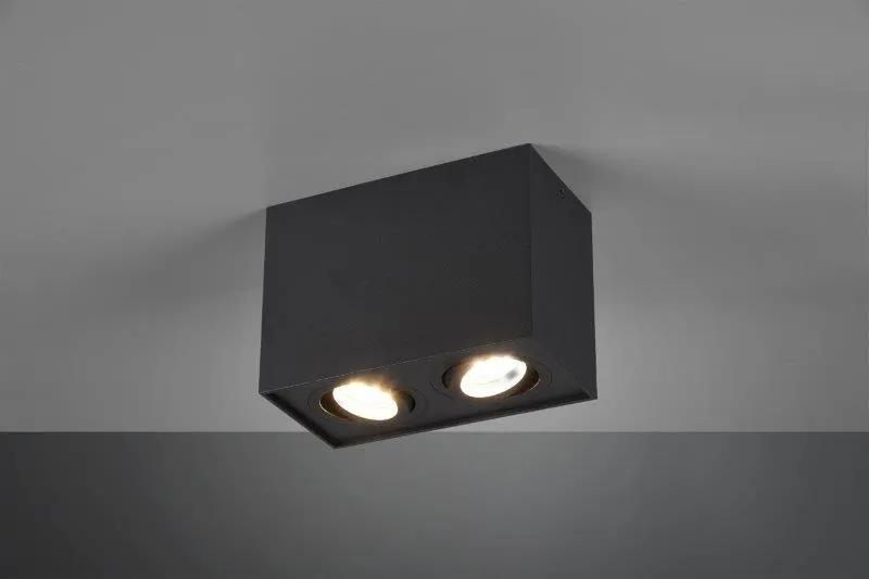 TRIO 613000232 Biscuit Stropné svietidlo 178mm GU10 2X35W Matná čierna