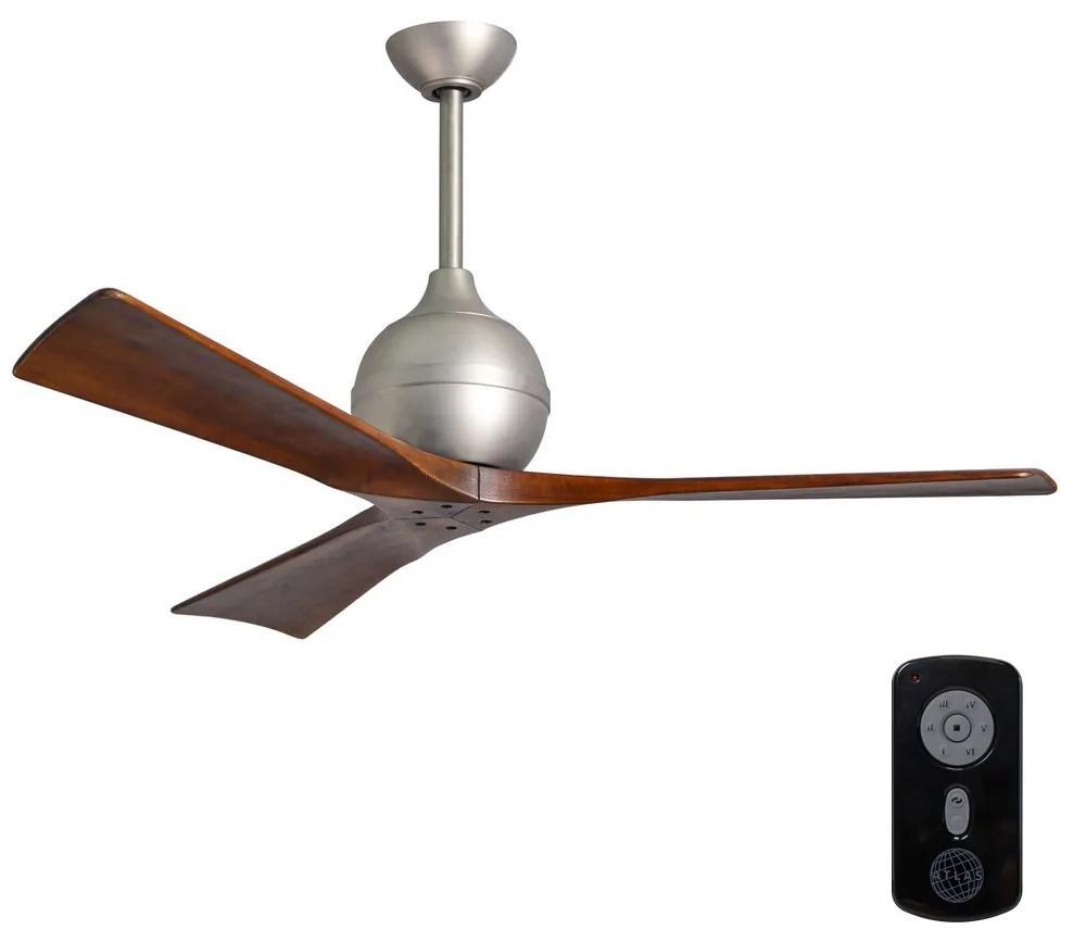 Matthews Matthews VEN-IR3-52 - Stropný ventilátor IRENE 52″ matný nikel/orech FAN00001