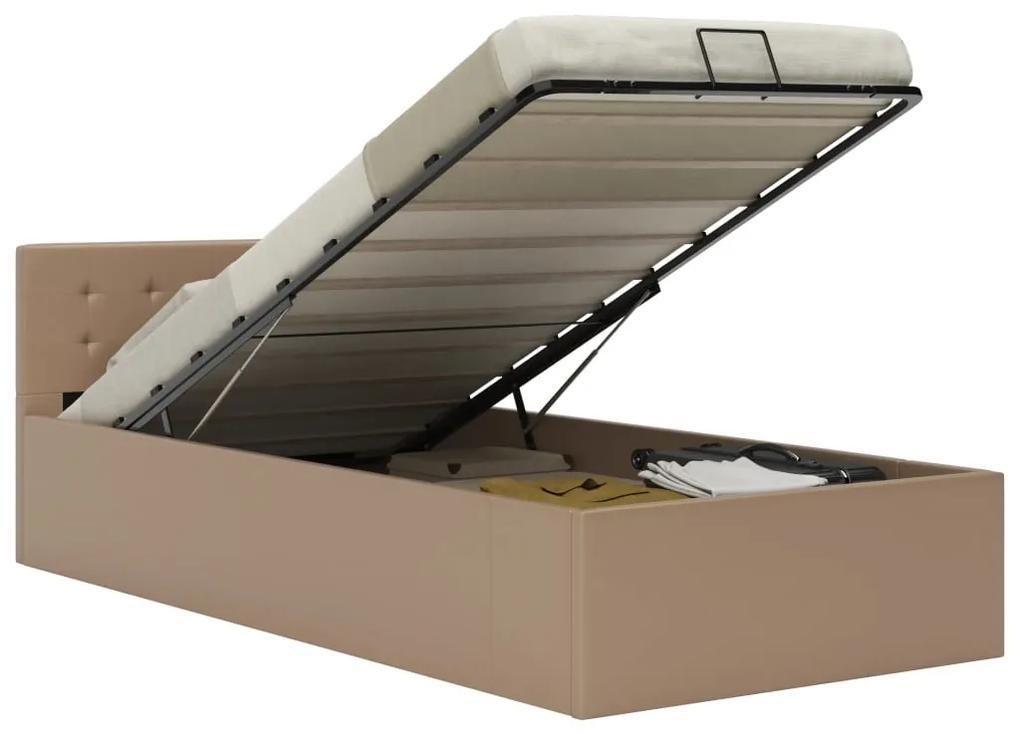 vidaXL Hydraulický posteľný rám+úložný priestor, umelá koža 100x200 cm