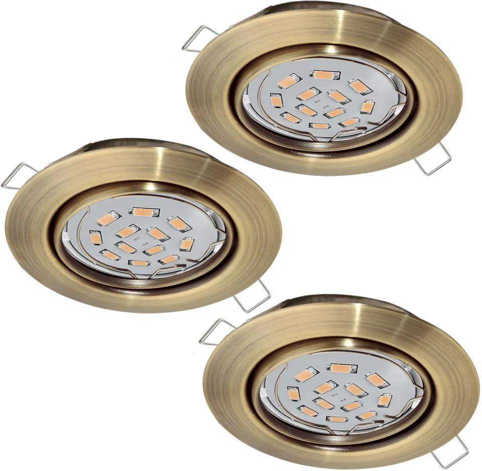 Eglo Eglo 94409 - SADA 3x LED Podhľadové svietidlo PENETO 3xGU10-LED/5W/230V EG94409