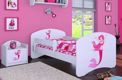 MAXMAX Detská posteľ bez šuplíku 140x70cm málo Mermaid