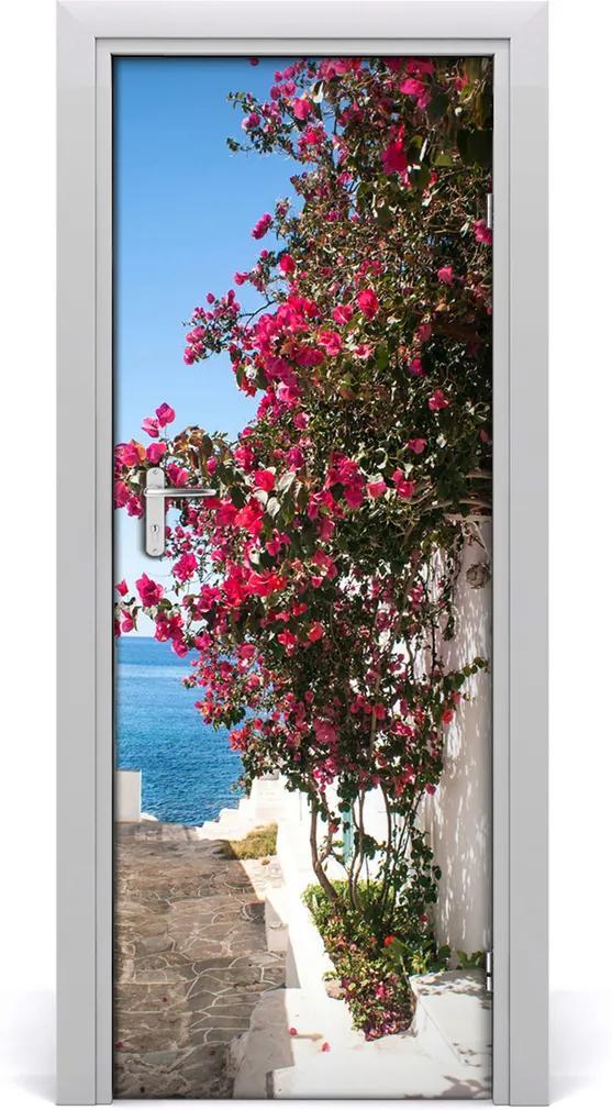 Fototapeta samolepící na dveře Řecké uličky