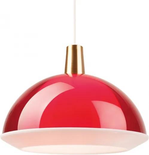 Závesná lampa Kuplat 400, červená Innolux