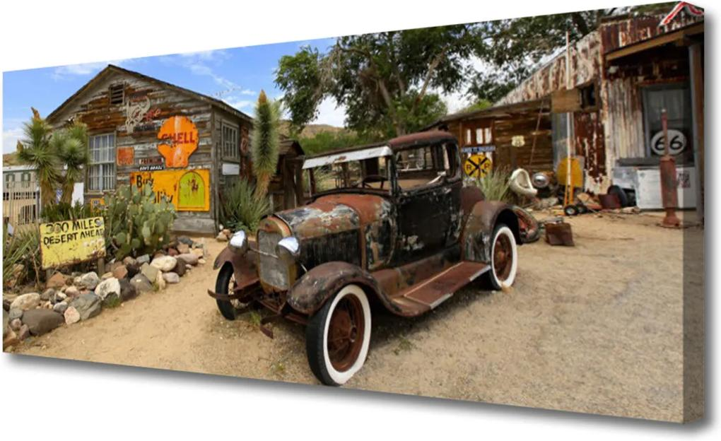 Obraz Canvas Staré auto architektura