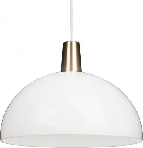 Závesná lampa Kupoli, bielo-mosadzná Innolux