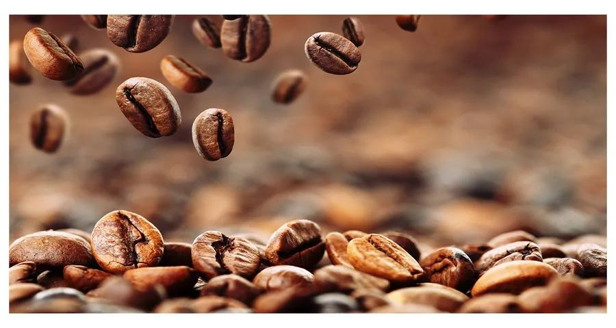 Moderný akrylový fotoobraz Zrnká kávy pl-oa-140x70-f-49006486
