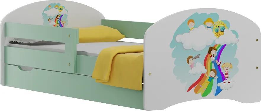 MAXMAX Detská posteľ so zásuvkami DETI A DUHA 200x90 cm 200x90 pre dievča|pre chlapca|pre všetkých ÁNO