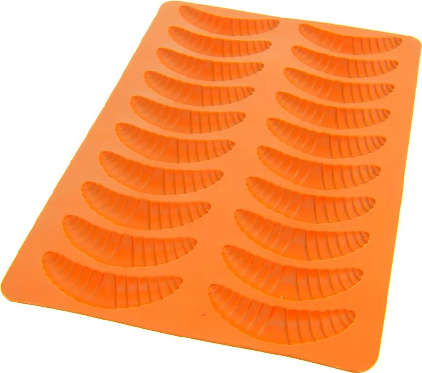 Forma silikónová Rožteky 20 ks oranžová