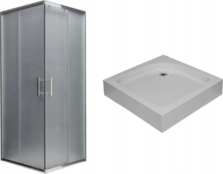 MAXMAX Sprchovací kút s vaničkou ARIO mat - 70x70 cm 70 čtvercový