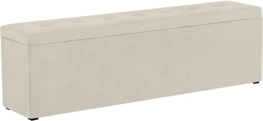 Krémová leňoška s úložným priestorom Windsor & Co Sofas Astro, 180 × 47 cm