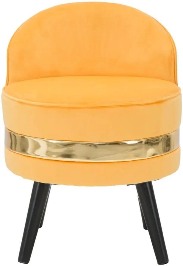 Žlté polstrované kresielko s nízkou opierkou Mauro Ferretti Paris