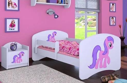 MAXMAX Detská posteľ bez šuplíku 180x90cm HORSE 180x90 pre dievča NIE