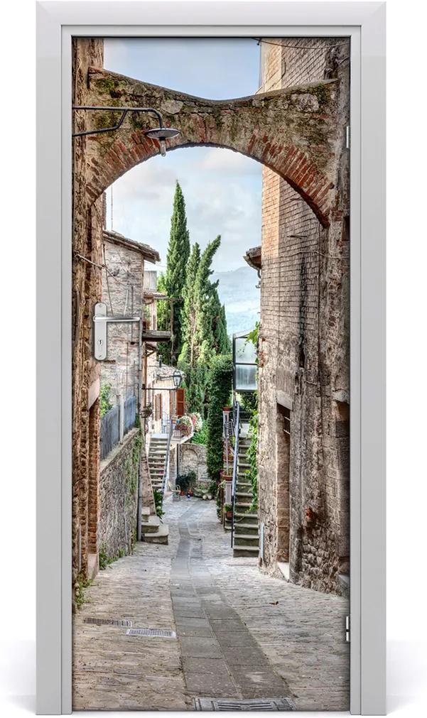 Fototapeta samolepiace na dvere  talianskej uličky