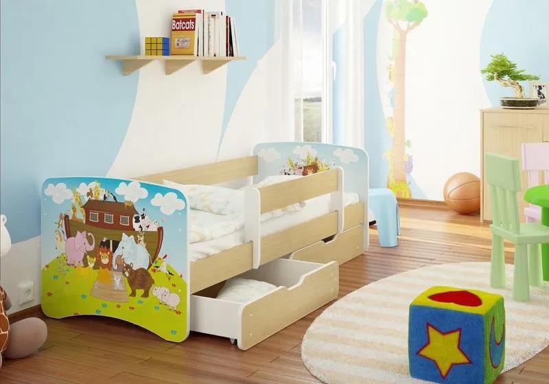 MAXMAX Detská posteľ ARCHA funny 160x70cm - bez šuplíku 160x70 pre všetkých NIE