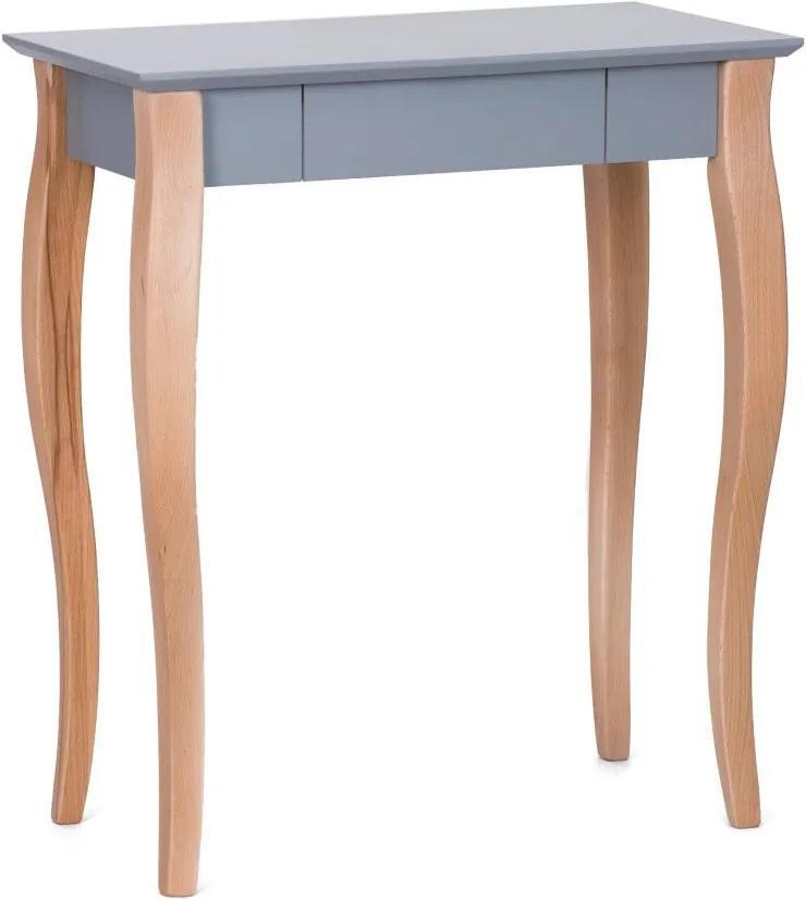 Tmavosivý písací stôl Ragaba Lillo, dĺžka 65 cm