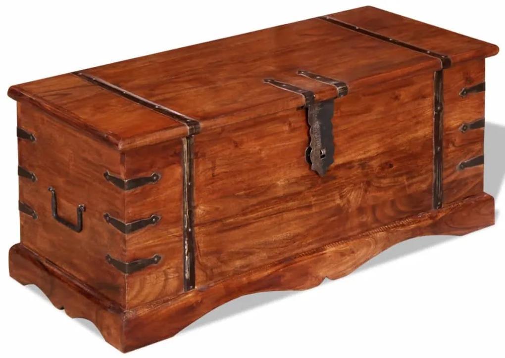 vidaXL Úložná truhlica z masívneho dreva