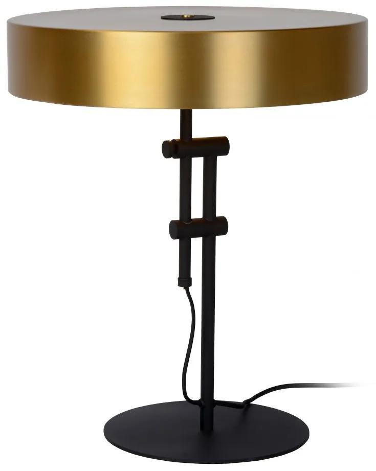 LUCIDE 30570/02/02 GIADA stolová lampa 2x E27/40W matná čierna/mosadz
