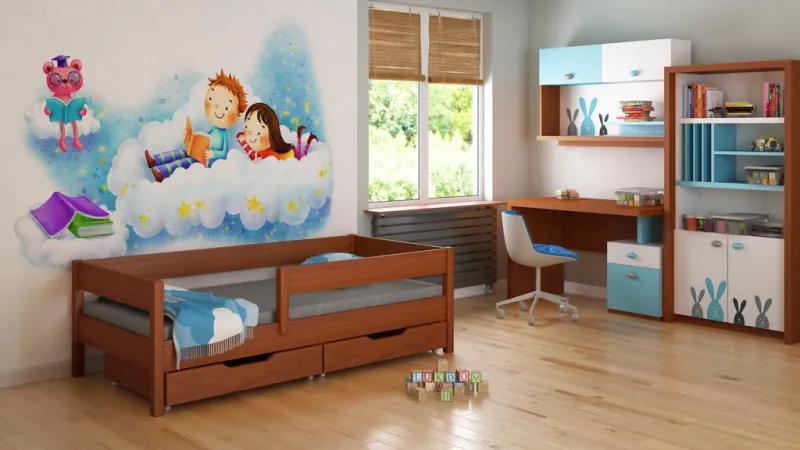 LU MIX 200x90 palisander detská posteľ